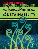 The Law and Politics of Sustainability