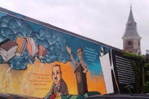 W E B Du Bois mural in Great Barrington 2012